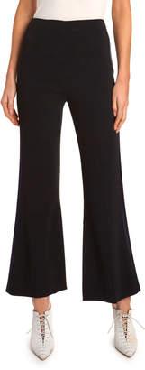 Roland Mouret Madison Slight Boot-Cut Tux Striped Pants