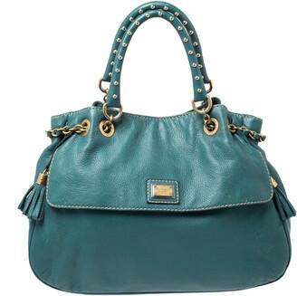 Dolce & Gabbana Green Leather Miss Charlotte Satchel