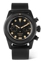 Unimatic - U3-AN DLC-Coated Brushed Stainless Steel and Horween Cordovan Shell Leather Watch