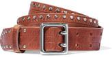 Rag & Bone Willow Studded Leather Belt - Light brown