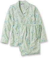 L.L. Bean Pima Cotton Flannel Sleepwear, Pajama Set Floral