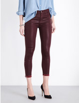 J Brand Alana skinny high-rise coated jeans