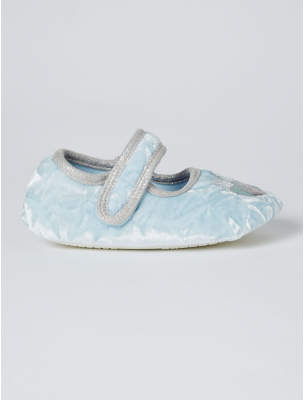 Disney George Frozen 2 Blue Velveteen Slippers