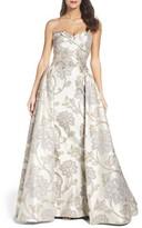 Mac Duggal Women's Metallic Brocade Gown