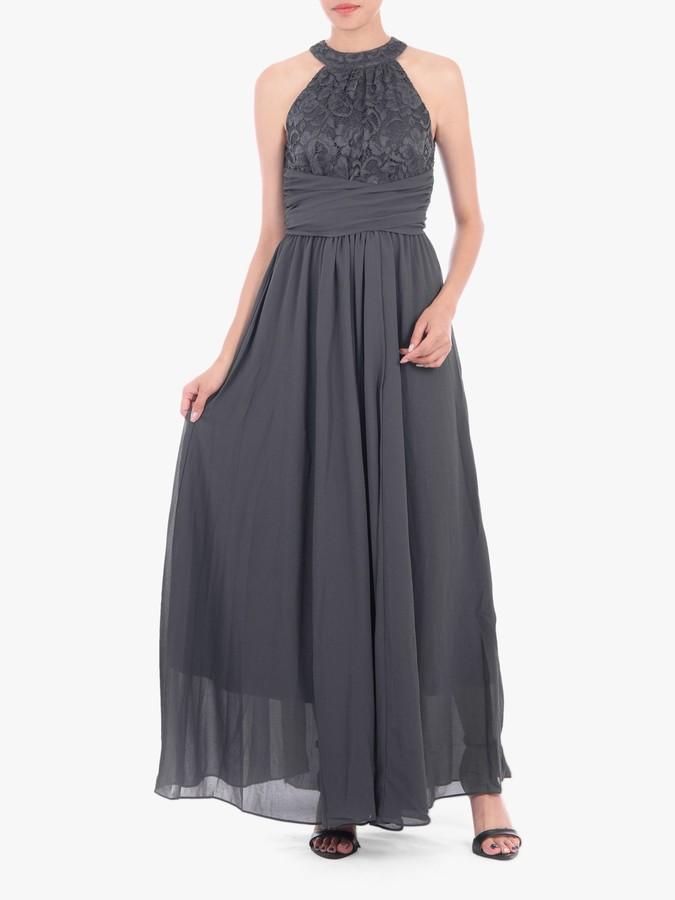 Jolie Moi Halter Neck Lace Dress