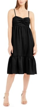 INC International Concepts Inc Twist-Front Linen-Blend Midi Dress, Created for Macy's