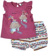 Petit Lem Hawaiian Top & Shorts Set, Pink, Size 12-24M