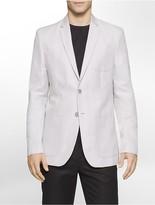Calvin Klein Slim Fit Linen Herringbone Jacket