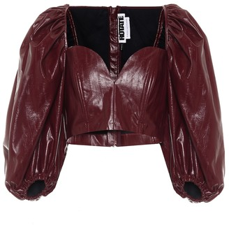 Rotate by Birger Christensen Irina faux-leather top
