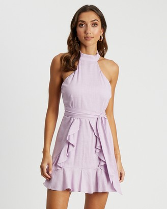 Tussah - Women's Purple Mini Dresses - Izzy Ruffle Dress - Size 12 at The Iconic