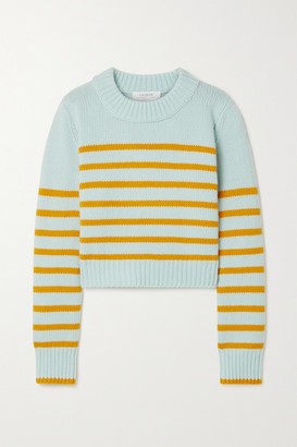 La Ligne Mini Marin Striped Wool And Cashmere-blend Sweater - Mint