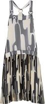 Kenzo Printed plissé-chiffon dress