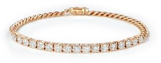 Anita Ko 18kt Rose Gold Diamond Cuban Link Bracelet