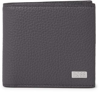 HUGO BOSS Crosstown Logo-Appliqued Full-Grain Leather Billfold Wallet