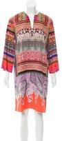 Etro Silk Abstract Print Dress w/ Tags