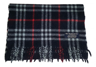 Burberry Navy Wool Scarves