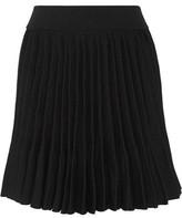 Maje Japon Pleated Cady Mini Skirt