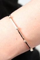 Bing Bang Tiny Skull Cuff in Rose Gold