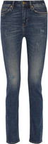 MiH Jeans Daily distressed mid-rise straight-leg jeans