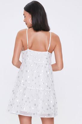 Forever 21 Chiffon Polka Dot Dress