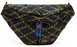 Aries X Porter Chain-print Cross-body Bag - Womens - Black Multi