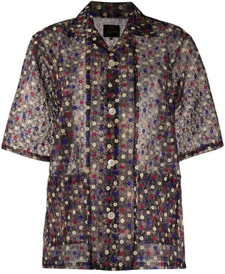 Needles Floral-Embroidered Blouse