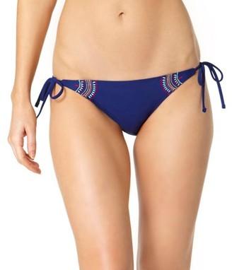 Op Juniors Harmony Embroidered Side-Tie Bikini Bottom