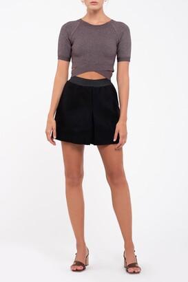 J.o.a. Solid Flare Mini Skirt
