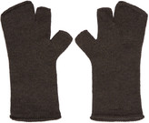 Attachment Grey Wool Fingerless Gloves