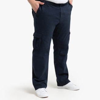 """La Redoute Collections Plus Elasticated Waist Cargo Trousers, Length 32"""""""