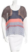 Clover Canyon Oversize Abstract Print Top