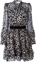 Marc Jacobs leopard print shirt dress - women - Silk - 2