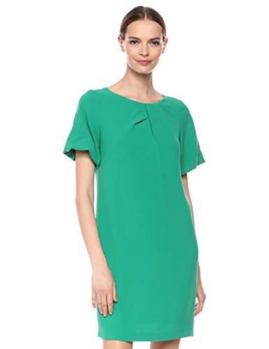 Adrianna Papell Women's Puff Sleeve Shift Dress