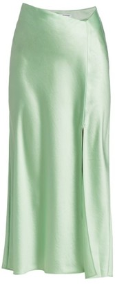 Alexander Wang Wet Shine Midi Skirt
