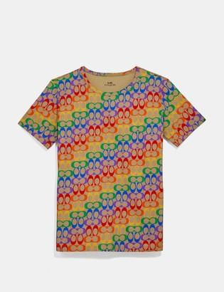 Coach Rainbow Signature T-Shirt