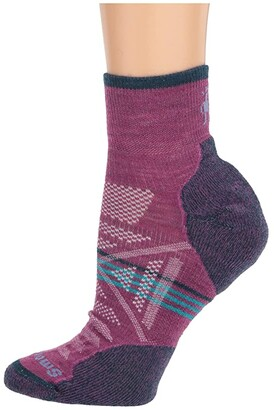 Smartwool PhD(r) Outdoor Light Mini (Meadow Mauve) Women's Quarter Length Socks Shoes