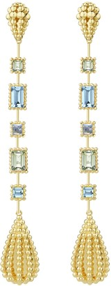 Carla Amorim Garden Aquamarine and Peridot Drop Earrings
