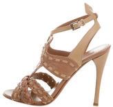 Alaia Bicolor Caged Sandals