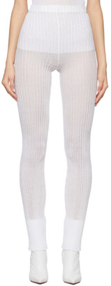a. roege hove White Rib Knit Tights