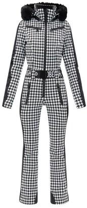 Goldbergh France Belted Check Soft-shell Ski Suit - Black White