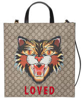 Gucci Angry Cat print GG Supreme tote