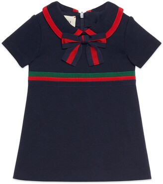 Gucci Baby cotton dress with Web