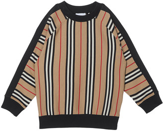 Burberry Boy's Lance Icon Stripe Terry Sweatshirt, Size 3-14
