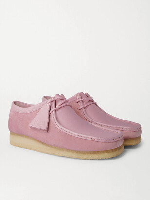 Clarks Wallabee Low Suede and Leather Desert Boots - Men - Pink
