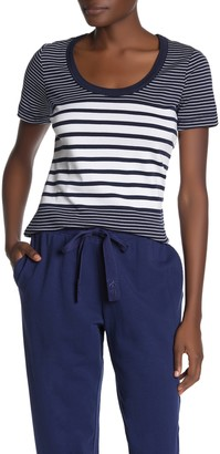 Tommy Bahama Indio Engineered Stripe Scoop Neck T-Shirt