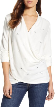 1 STATE 1.STATE Embellished Cross Front Top