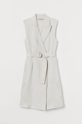 H&M Linen-blend Dress - Beige