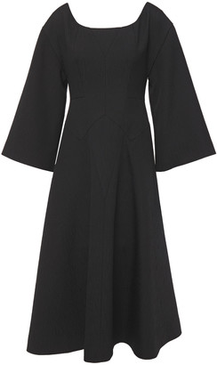 Emilia Wickstead Konstantina Fluted Cloque Midi Dress