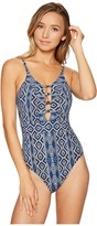LaBlanca La Blanca - Designer Jeans Keyhole OTS One-Piece Women's Swimsuits One Piece