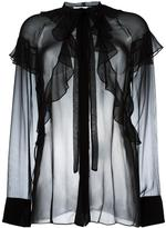 Givenchy sheer ruffle detail blouse - women - Silk - 38